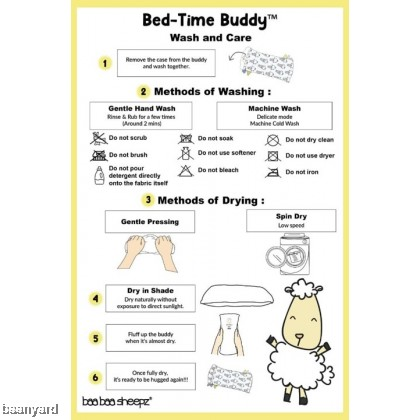 Bed-Time Buddy Big Sheepz Yellow with Color & Stripe tag - XL