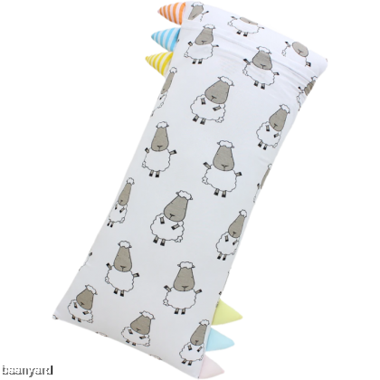 Bed-Time Buddy Big Sheepz White with Color & Stripe tag - Jumbo