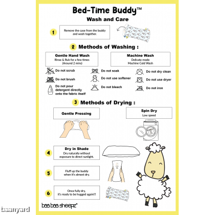 Bed-Time Buddy Small Sheepz Yellow with Color & Stripe tag - Small