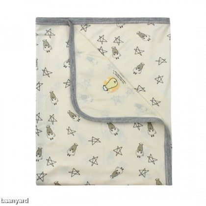 Single Layer Blanket Small Star & Sheepz Yellow 0-36M