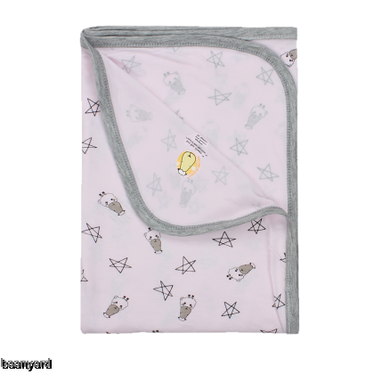 Single Layer Blanket Small Star & Sheepz Pink 0-36M