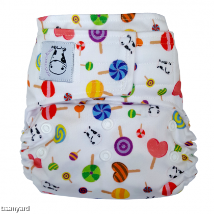 Cloth Diaper One Size Aplix - Lollipop