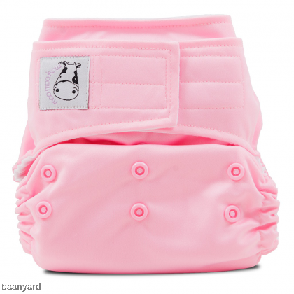 Cloth Diaper One Size Aplix - Sweet Pink